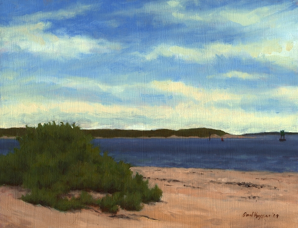 Beach at Fort Macon - Original Landscape Painting by Paul Keysar