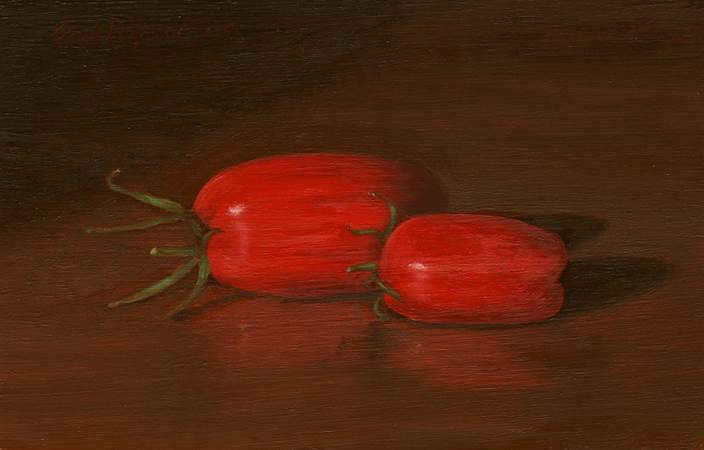 Juliet Tomatoes - Original Still Life Painting by Paul Keysar