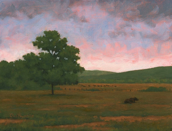 The Lonely Bull - Original Landscape Painting by Paul Keysar