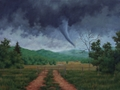 Descent, Original tornado painting by Paul Keysar