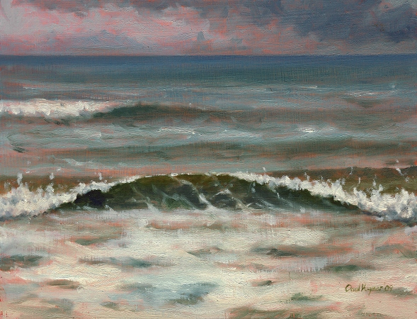 Wave Study, Original Landscape Painting by Paul Keysar