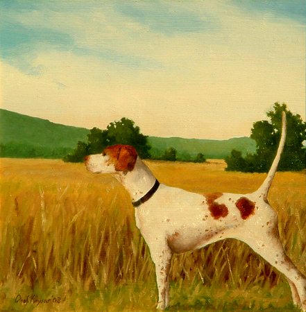 English Pointer - Realism Painting by Paul Keysar