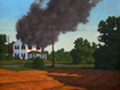 House Fire, Conquest Series Landscape painting by Paul Keysar