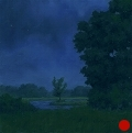 Cloudy Night, Night Series Landscape painting by Paul Keysar