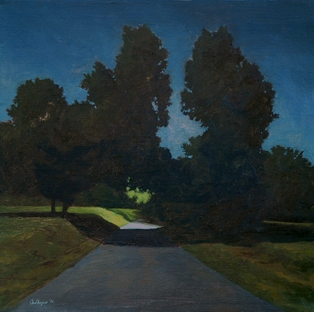 Clydesdale Road, Night, #2 - Traditional Realism Painting by Paul Keysar