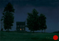 Night, Blue House on Clydesdale, Night Series Landscape painting by Paul Keysar