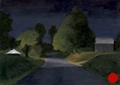 Night on Clydesdale, Night Series Landscape painting by Paul Keysar
