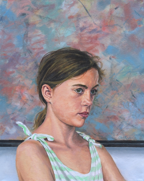 Not So Modern Molly, original portrait painting by Charlotte, NC, artist Paul Keysar