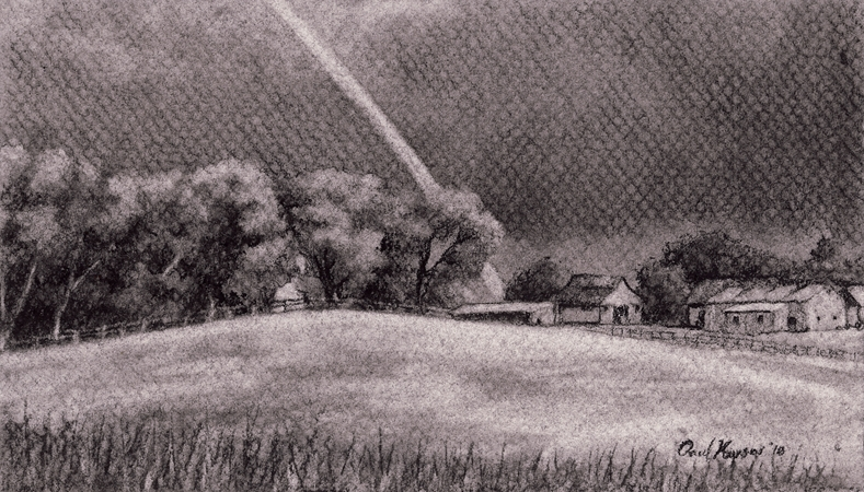 Rainbow, Original Charcoal Drawing by Paul Keysar